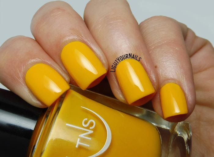 Smalto giallo TNS Cosmetics Firenze 543 Oasi (Lungomare) yellow creme nail polish