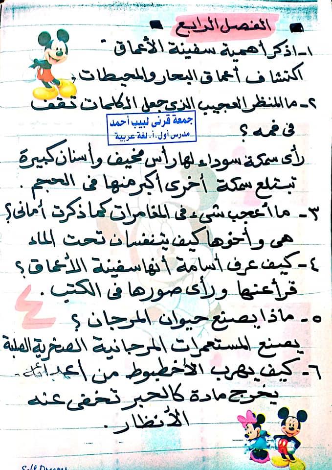 مراجعة اللغة العربية للصف الخامس الابتدائي ترم ثاني أ/ جمعة قرني لبيب 12