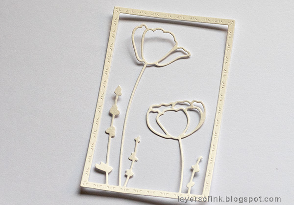 Layers of ink - Poppy Card Tutorial by Anna-Karin Evaldsson. Die cut the Poppy Frame.