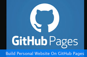 GitHub Pages on a blue background