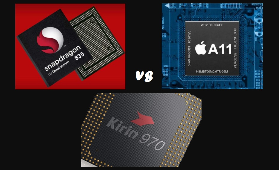Apple A11 Bionic Chip vs Snapdragon 835 vs Huawei Kirin 960