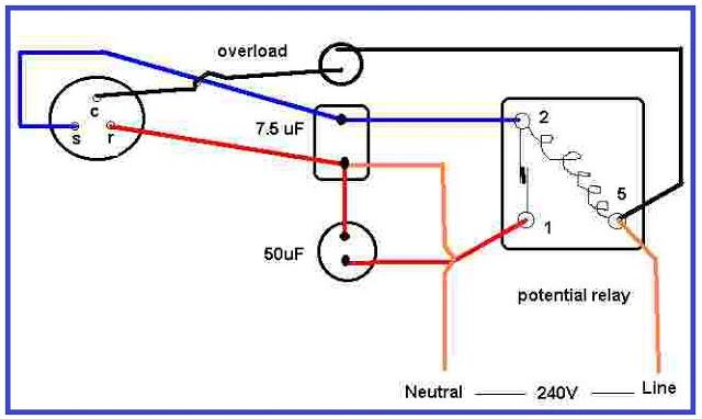 Air Condition Compressor Potential Relay Wiring | Non-Stop Engineering | Hvac Potential Relay Wiring Diagram |  | Non-Stop Engineering