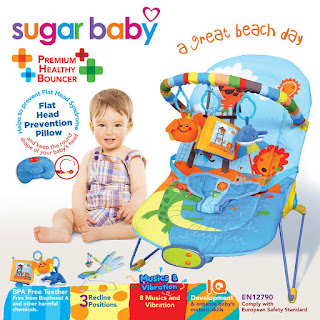 Sugar Baby Bouncer 3 Recline Great Beach Day