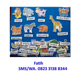 Mainan Anak Edukatif Flanel Set Binatang