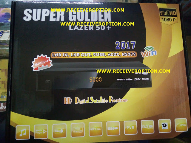 SUPER GOLDEN LAZER 50+ HD RECEIVER POWERVU KEY NEW SOFTWARE BY SUNPLUS LOADER