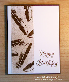 Masculine Card made with Stampin'UP!'s  Feather Together Stamp Set