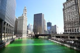 Chicago Color in green colour - St Patricks Day facts
