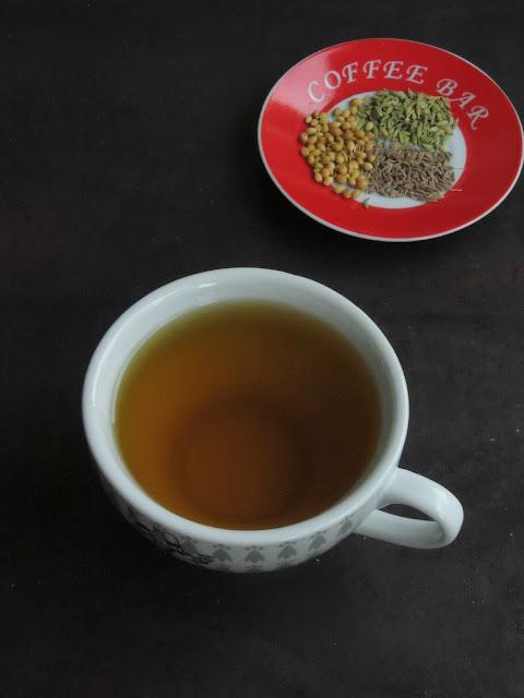Cumin, fennel & coriander seed tea