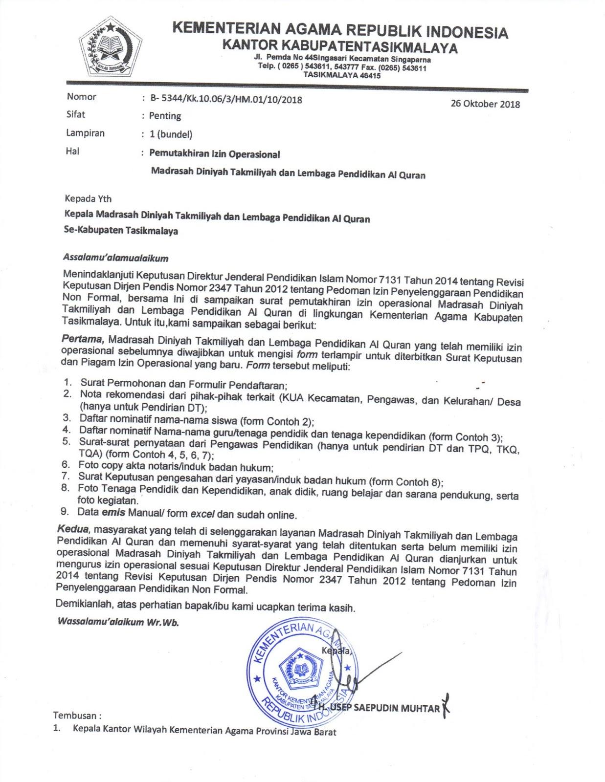 39 Contoh Surat Permohonan Izin Operasional Sekolah Smk Images