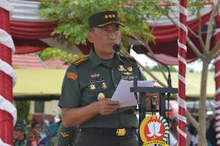 Komandan Korem 102/Pjg Pimpin Upacara Penutupan TTMD ke-104 Tahun 2019