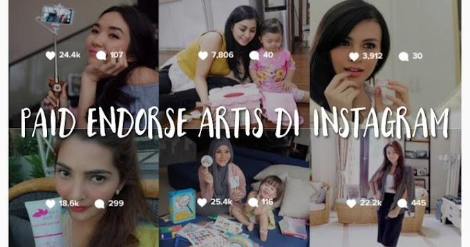 Tarif Endorse Instagram Artis Berapa, Sih?