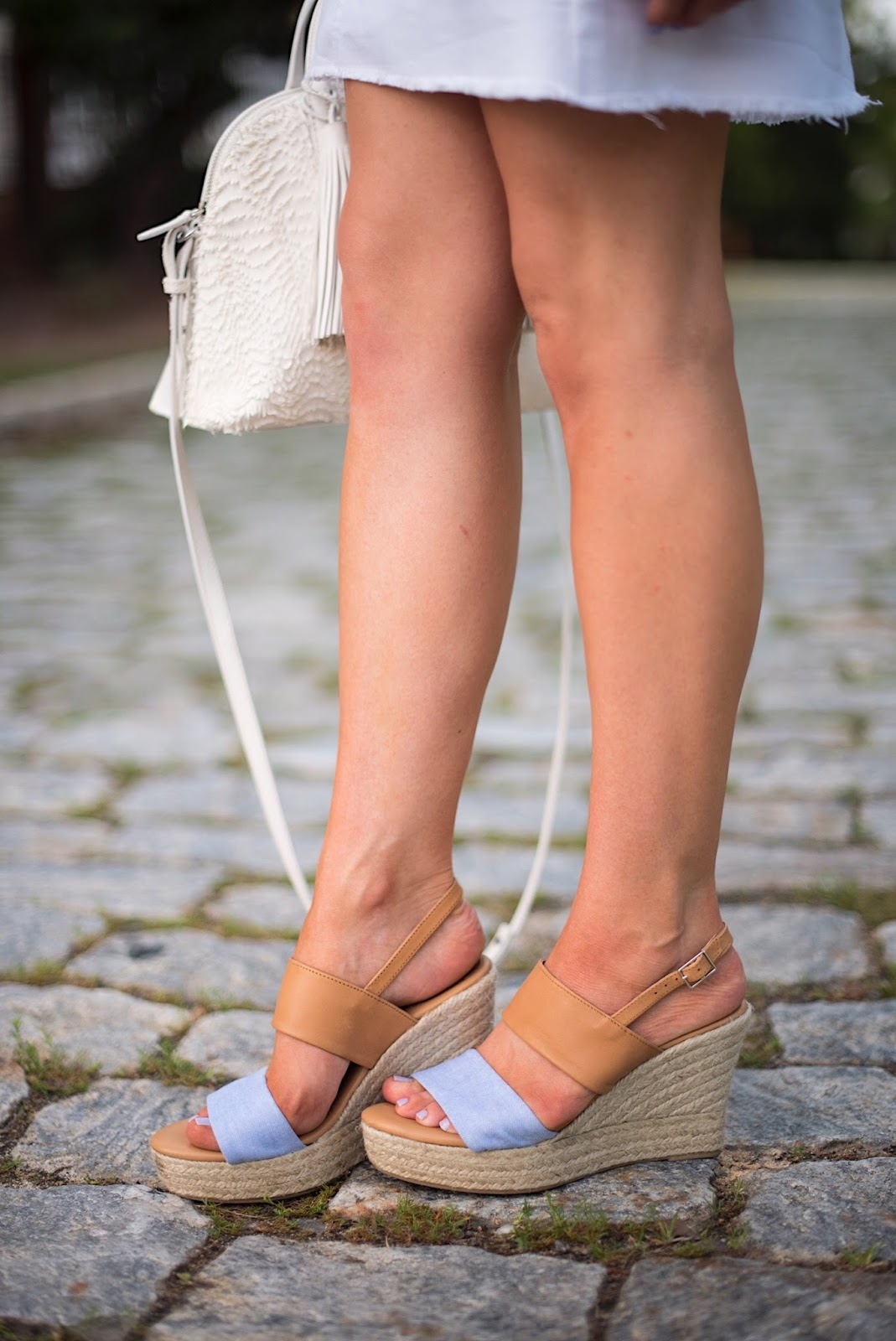 Chambray Wedges - Click through to see more on Something Delightful Blog