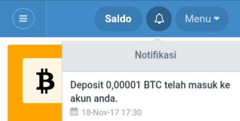 Minimal Withdraw hanya 0,00001 BTC atau setara dengan 1000 Satoshi. Berikut ini adalah screenshoot bukti Withdraw dari website auto mining Future bank.