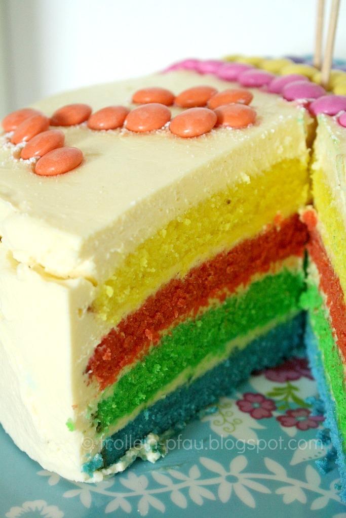 Frollein Pfau Regenbogenkuchen Co