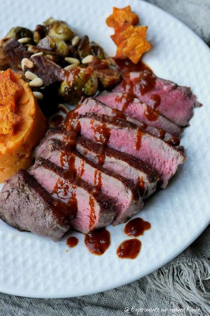 Weihnachtliches Rinderfilet mit Lebkuchensoße | Rezept | Kochen