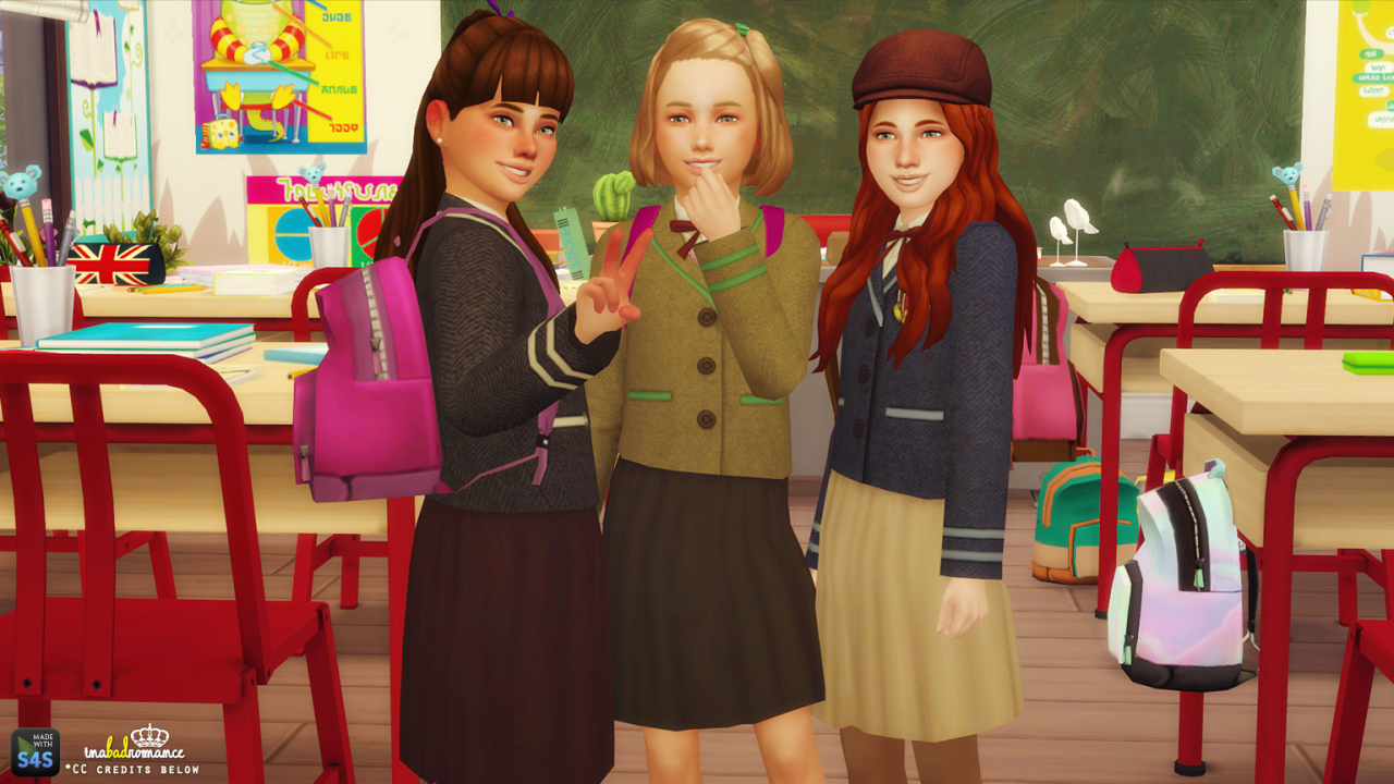 My Sims 4 Blog School Uniforms And Scouts Top For Boys -8081