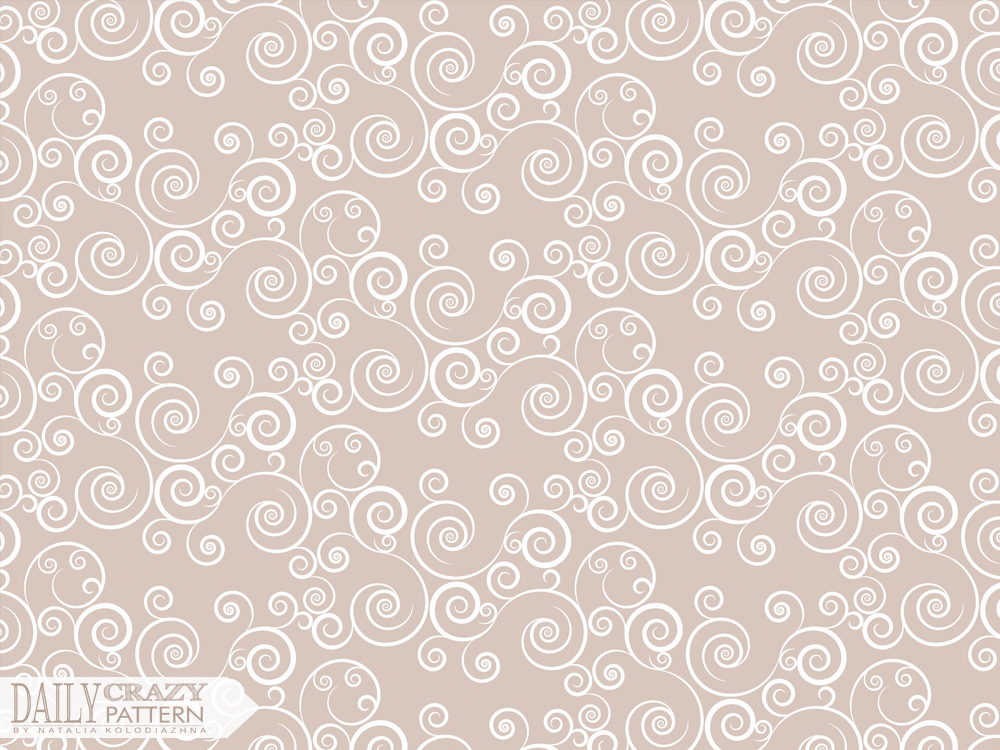 Romantic beige pattern