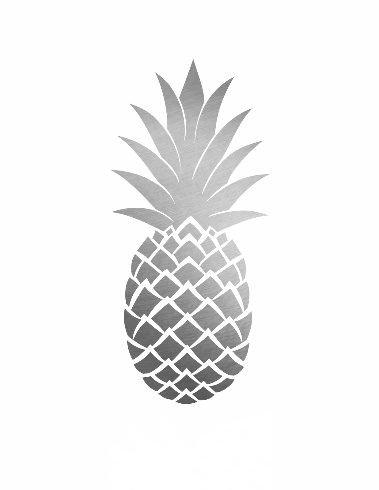 picture regarding Free Printable Pineapple called absolutely free pineapple printables increase some exciting toward your household decor!