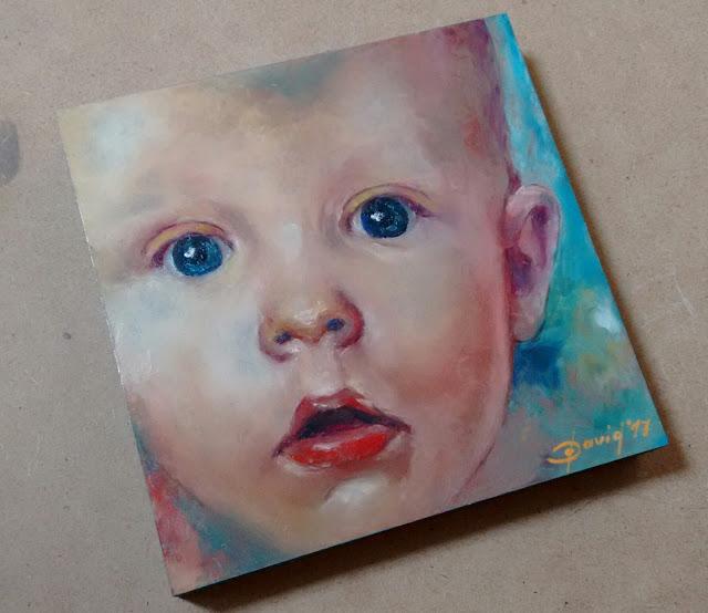 100 Porträts Projekt , Beispiel Porträt eines Kindes