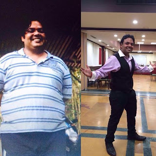 International entertainer Shekhar Vijayan weighed 125 kilos a year ago and carried a waistline of 46 inches.   All that weight took a toll – both physically and mentally.   At his in-laws home in Chennai, the commode on which he was sitting broke, though he blames it on the fixtures.