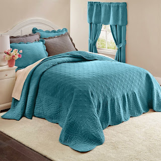 Brylanehome Florence Bedspread (Plum,Twin)