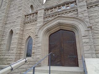 sanctuary door First Presbyterian Church Fort Smith