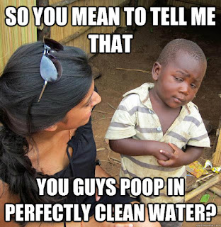 So you're telling me that you poop in perfectly clean water?