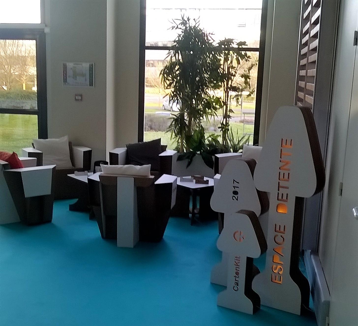 Carton kit cr ations objets et meubles 100 carton for Amenagement espace detente entreprise