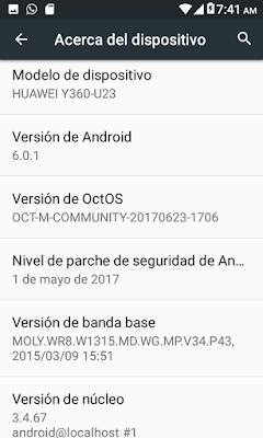 OctOS Huawei Y360