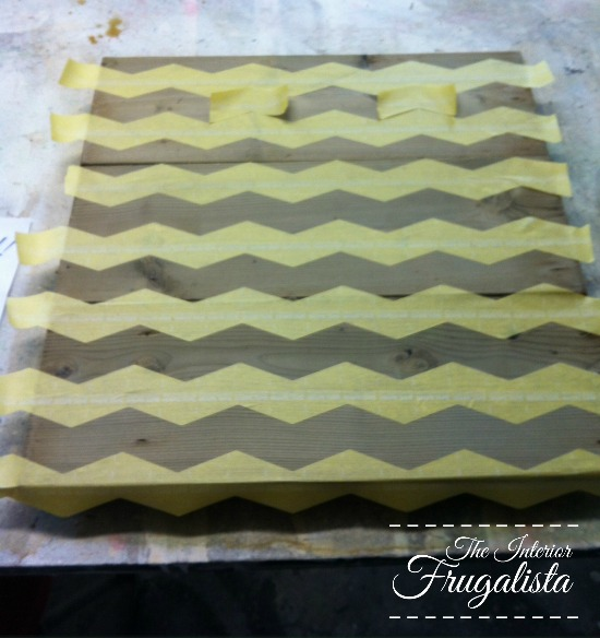 How to add Chevron Stripes onto wood