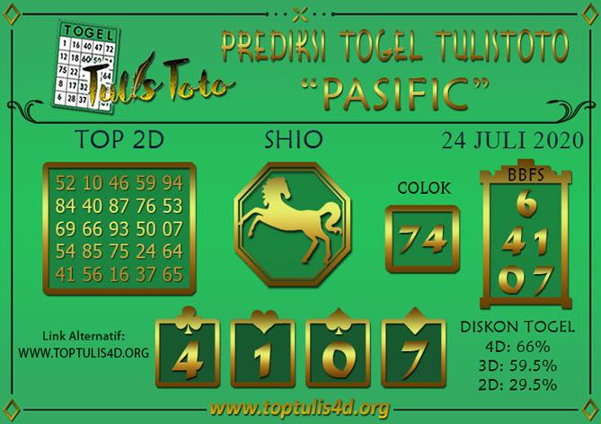 Prediksi Togel PASIFIC TULISTOTO 24 JULI 2020