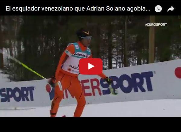 Adrián Solano pasando pena y dejando a Venezuela en la vergüenza