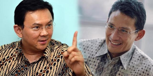 Cawagub DKI Jakarta Sandiaga Uno Anggap Ahok Superman