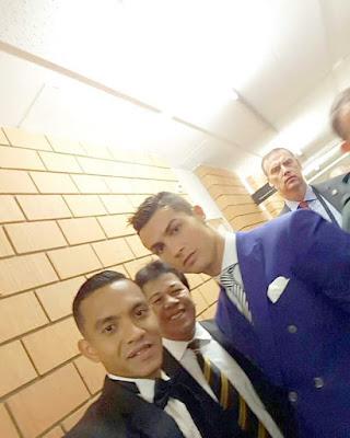 gambar faiz subri selfie dengan cristiano Ronaldo