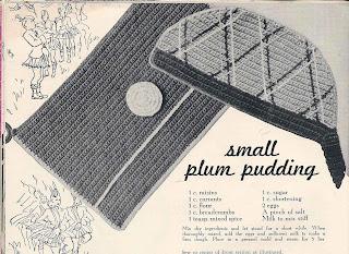 Vintage Potholders in Cap and pocket book motif