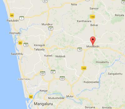 Moodabidri Map
