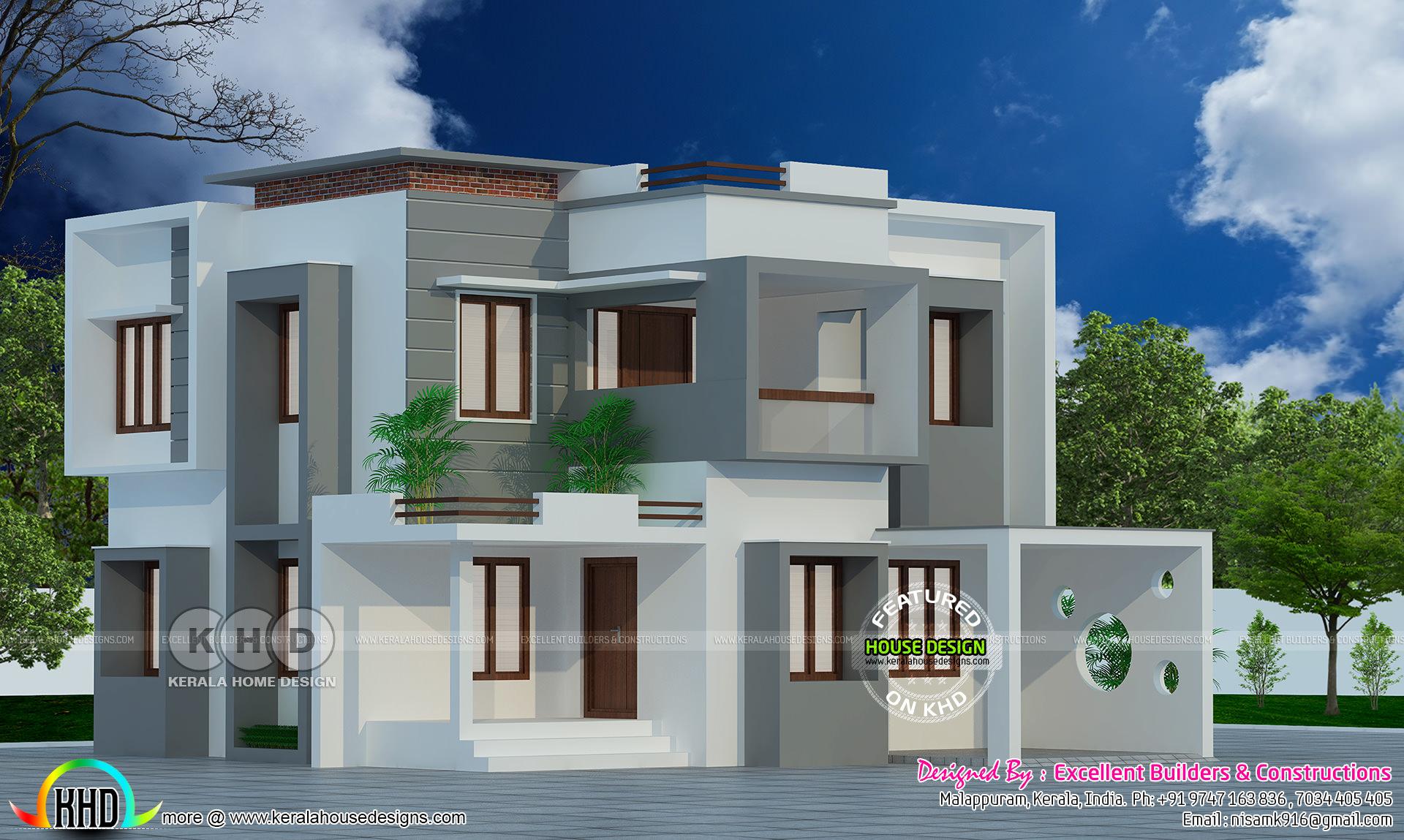 Modern Contemporary Design Flat Roof Construction Kerala Home Design Bloglovin