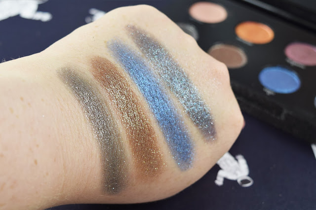 Urban Decay Moondust Eyeshadow Palette swatches