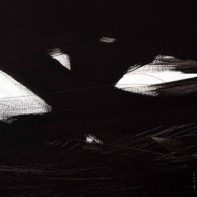 45 x 45 cm, acrylique et graphite sur papier, 11 mars 15