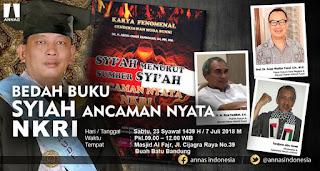 "Hadirilah Bedah Buku ""Syiah Ancaman Nyata NKRI"" di Bandung"
