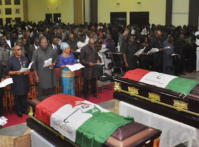 Tears As Dickson Buries Govt House Photographer, Former Aide Murdered By Soldiers On Election Day…Offers Free Education To The Orphans; Automatic Employment For The Widows