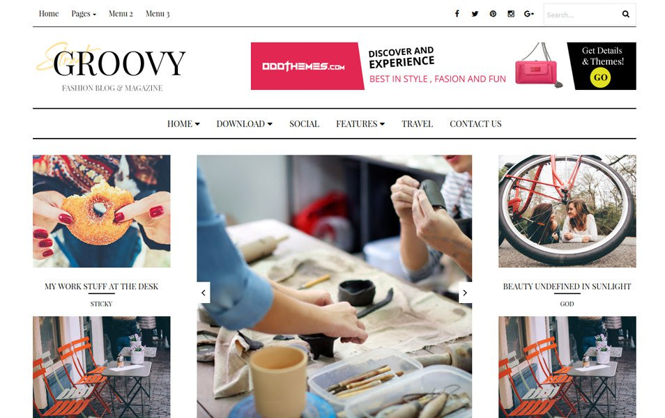Groovy Fashion Magazine Responsive Blogger Template