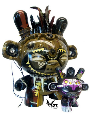 Kidrobot - African Minigod 20 Inch Dunny and Shadow Serpent Variant 8 Inch Dunny by Marka27