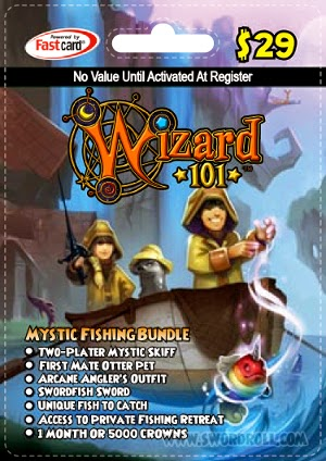 Wizard101 Mystic Fishing Bundle Card Image