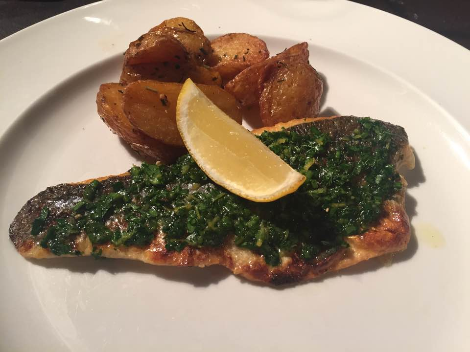 Pizza Making at Babucho Newcastle | Children's Menu & Lunch Review - Rapido Menu - seabass and rosemary potatoes
