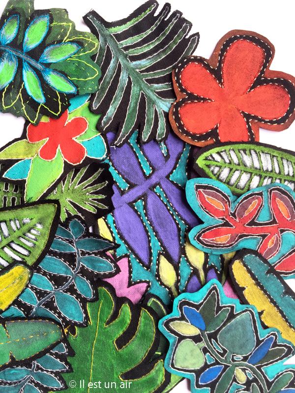 Peinture textile - tropicale