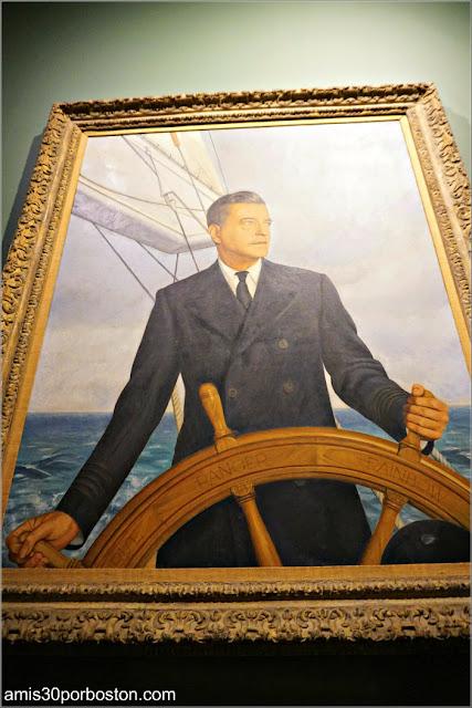Retrato de Harold en la Sala de Trofeos de Marble House, Newport