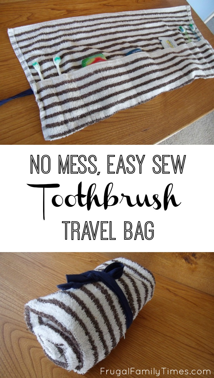 Easy Sewing Projects For Beginners: No Mess, Easy Sew Toothbrush Travel Bag