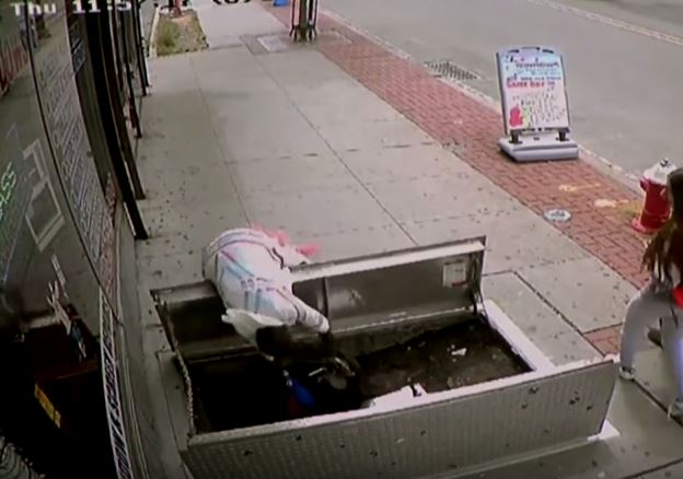 THIS CAN HAPPEN TO YOU: Woman Falls Into The Basement Because She Was Walking and Texting!