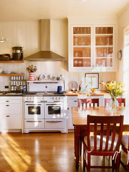 Kitchens With Wood Paneling: Mod Vintage Life: More Painted Paneling